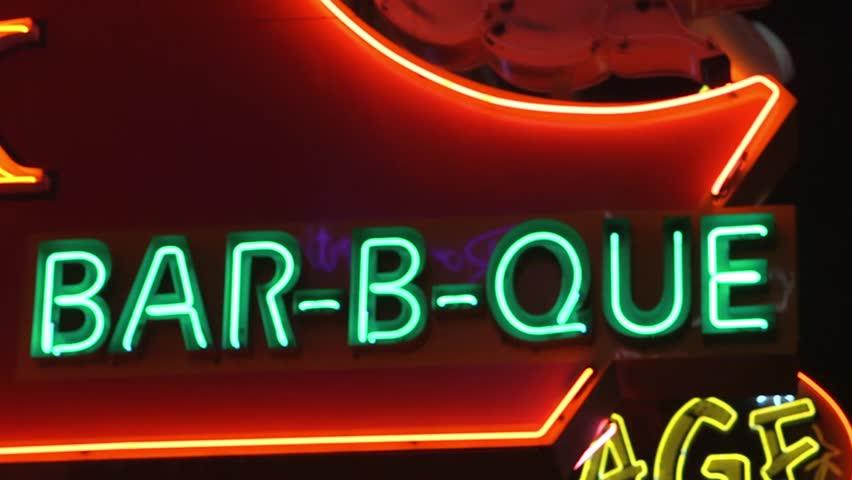 Downtown Nashville Neon Signs v.1-7 | Shutterstock HD Video #13377092