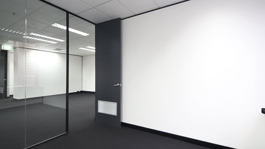 Office With A Glass Wall Stock Footage Video 100 Royalty