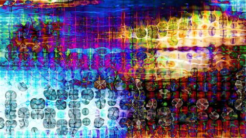 Video Background 2051: Abstract digital data forms pulse and flicker (Video Loop).