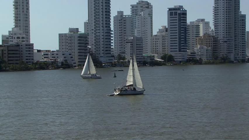 Cartagena Columbia Harbour | Shutterstock HD Video #13397912