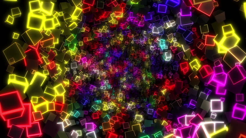 Neon cubes is seamless motion background for music video, night club, back stage, VJs and DJs, presentation, exhibition, screensaver, fashion or audiovisual show, video mapping, mix, stage decoration. | Shutterstock HD Video #13410302
