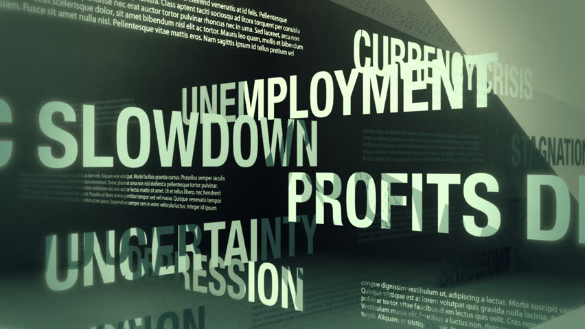 Economic Recession Related Words Loop | Shutterstock HD Video #1343812