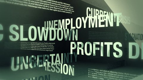 Economic Recession Related Words Loop