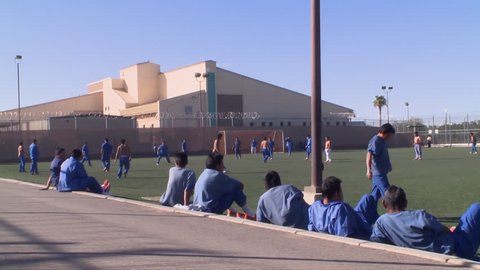 CIRCA 2010s - Shots inside the Florence Detention Facility in Florence, Arizona.