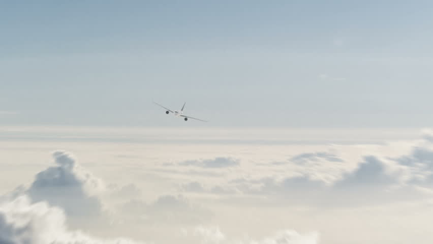 An animated airplane flying in the sky. The clip contains an alpha channel. | Shutterstock HD Video #13454942