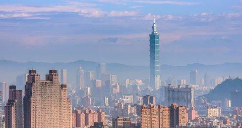 City of Taipei at dawn, Taiwan