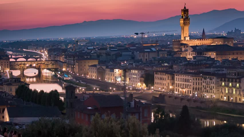 Florence panorama during sunset | Shutterstock HD Video #13510502