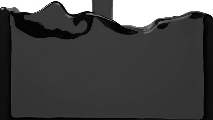 transparent grey liquid filling the screen Alpha Channel HD 3d render #13517612