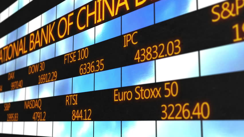 Names of world major stock exchanges, market quotes running on electronic ticker | Shutterstock HD Video #13519532