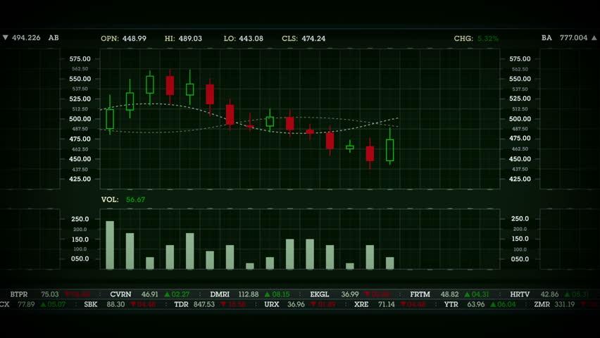 Stock Performance Chart Green | Shutterstock HD Video #13534898