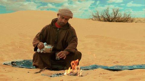 a tea in the desert