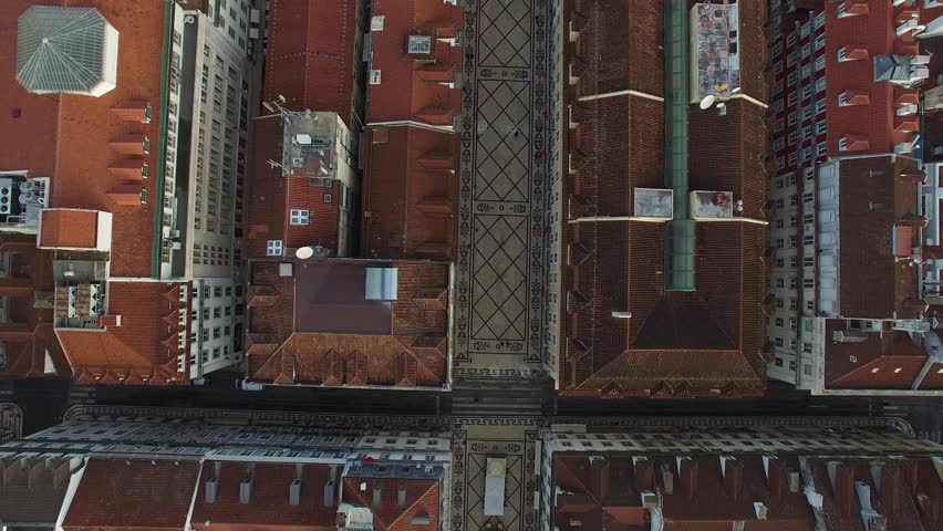 Top View of the Famous Augusta Street in Lisbon, Portugal | Shutterstock HD Video #13596992