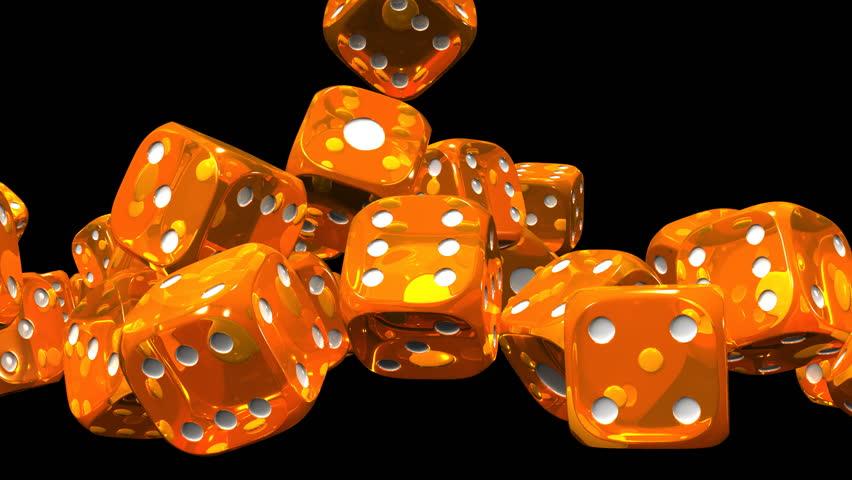 Orange Dice On Black Background Stock Footage Video 100 Royalty Free 13612322 Shutterstock