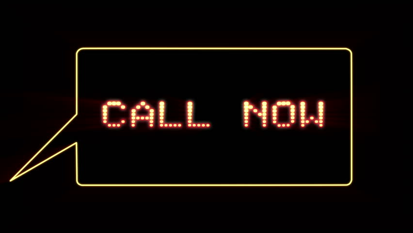 Call Now text in speech bubble