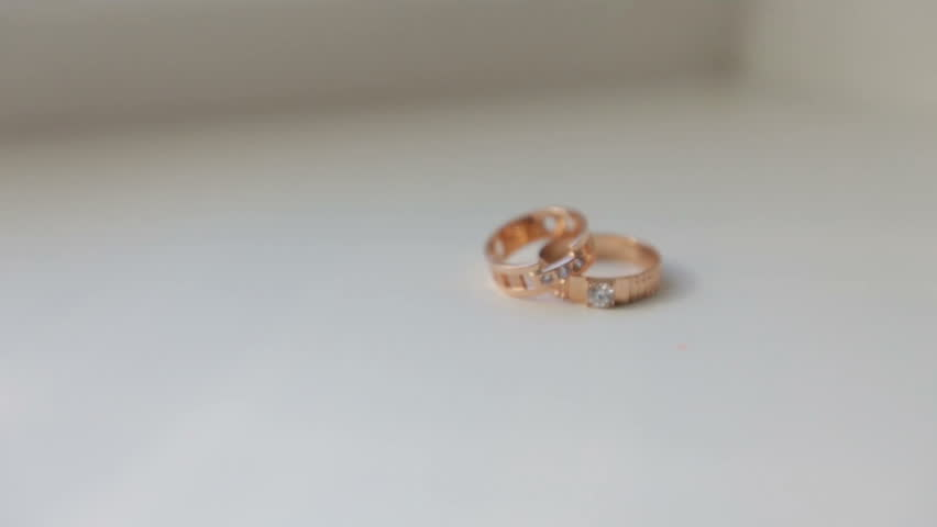 Nice wedding rings stock footage video 11444753 shutterstock wedding rings on white background hd stock video clip junglespirit Gallery