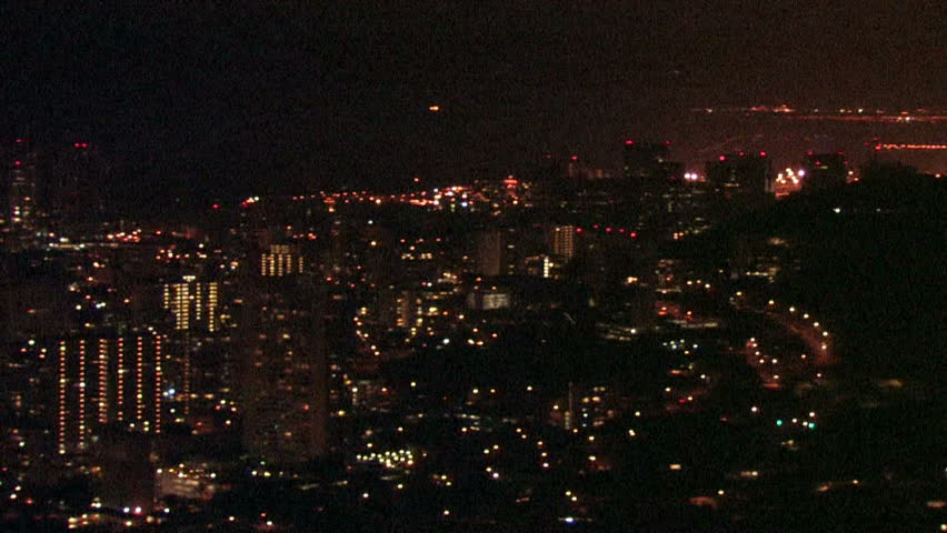 Xws Los Angeles Skyline At Night With Lots Of Twinkling