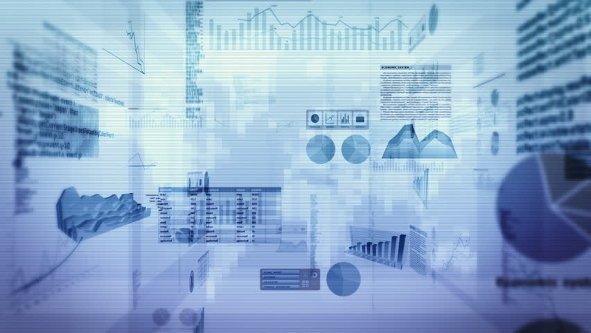 Financial data and charts. Dolly in. Loop able. Cyan-Green. 2 videos in 1 file. Financial data and charts showing increasing profits. More color options in my portfolio.   Shutterstock HD Video #13806686