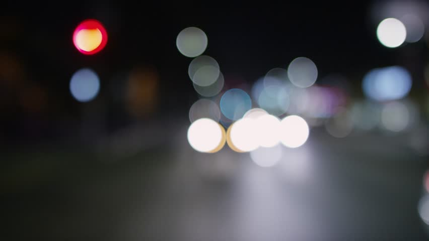 West Hollywood: Los Angeles, CA USA Set 6 - Driving Plate Rear View: Car travels W on Sunset Blvd on a clear evening in light traffic. Large bokeh. Shot on RED Dragon. | Shutterstock HD Video #13811042