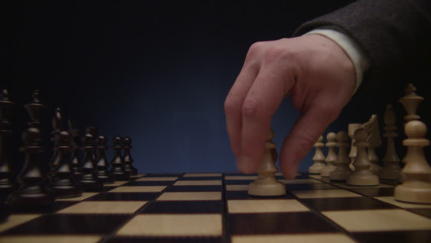 Chess boards and chess pieces game - 4K stock footage clip