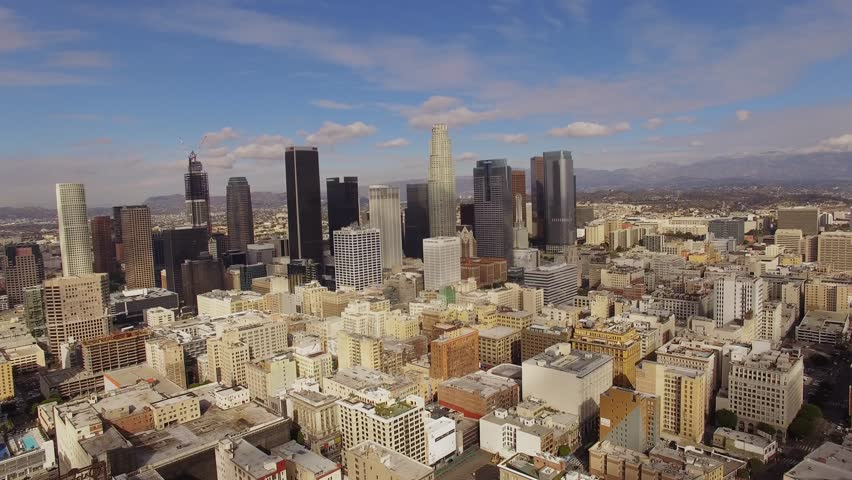 Aerial Sunny weather Downtown Los Angeles | Shutterstock HD Video #13849487