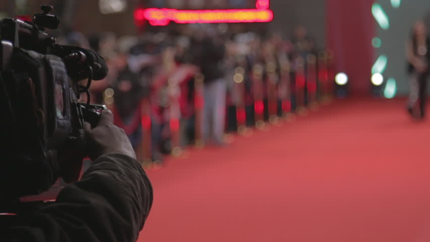 Videographer shoots festive event