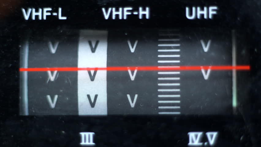 close up of old television tuning dial