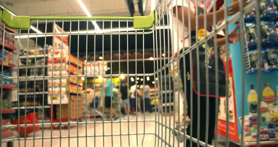 Shopping Cart in Supermaket   Shutterstock HD Video #13905554