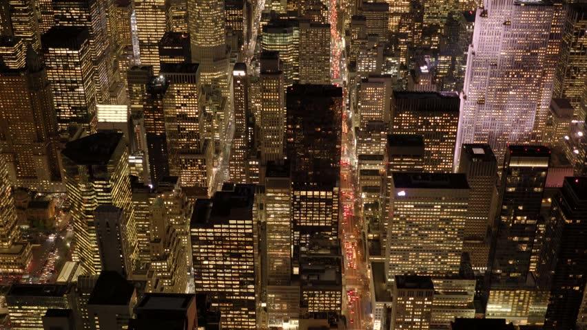 Cityscape establishment shot of metropolis city skyline buildings. aerial view of modern business district blocks  | Shutterstock HD Video #13914959