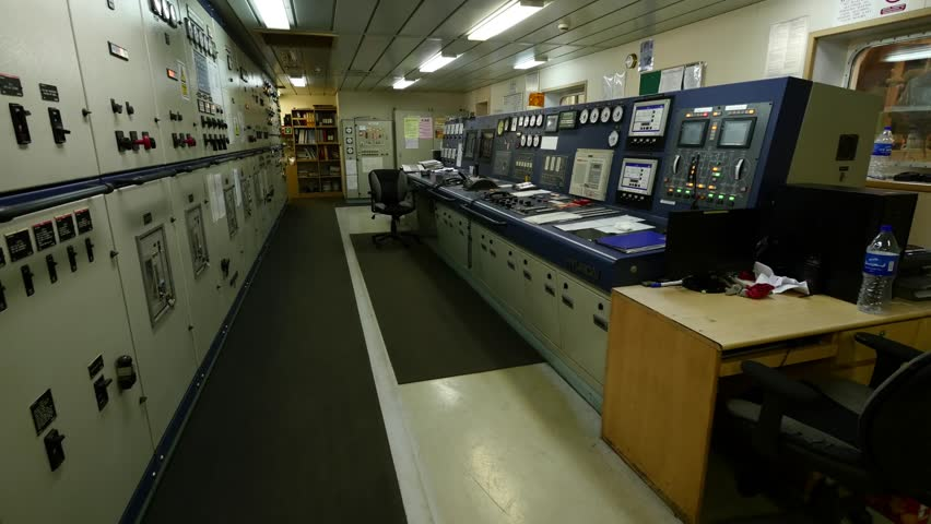 Engine control room of very large tanker.   Shutterstock HD Video #13941095