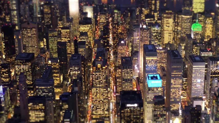 Aerial view of big city at night. financial business district. urban metropolis background | Shutterstock HD Video #13946672