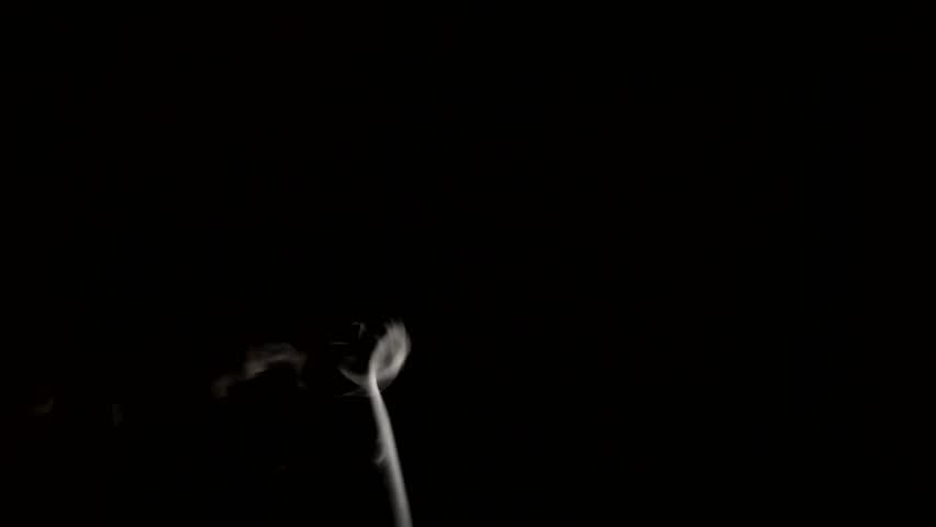 White smoke on black background   Shutterstock HD Video #13960232