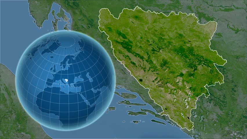 Bangladesh shape animated on the satellite map of the globe videos bosnia and herzegovina shape animated on the satellite map of the globe 4k stock footage gumiabroncs Gallery