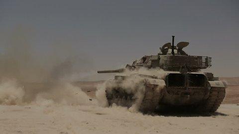 Tanks fired live ammunition