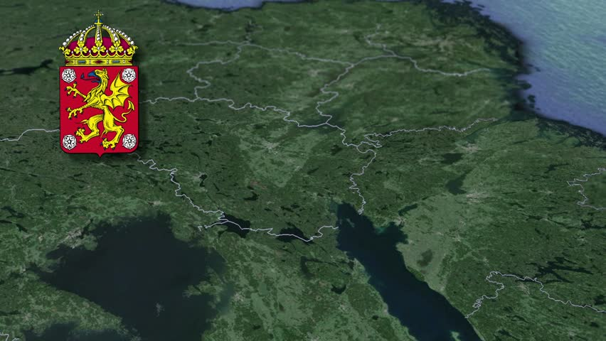 Sweden Map And Flag Made Out Of People Stock Footage Video - Sweden terrain map