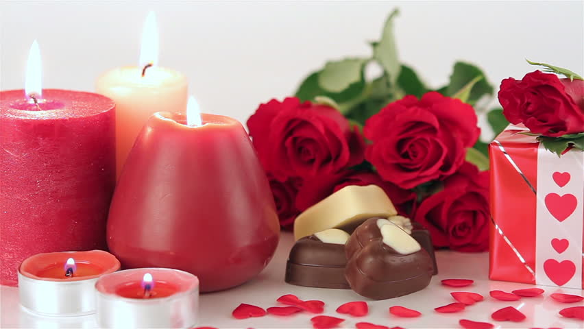 Red Roses And Chocolate Candies Stock Footage Video 100 Royalty