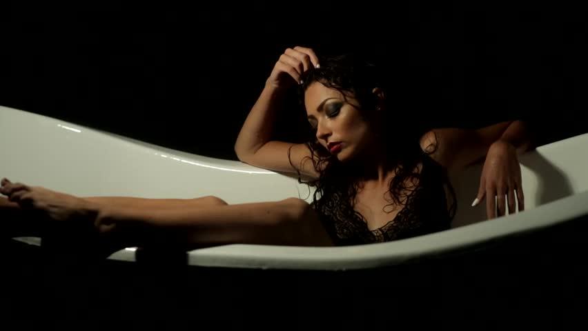 Sexy girls in the bathtub