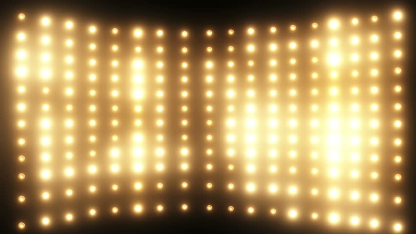 wall consisting of a set of flashing lights loop stock