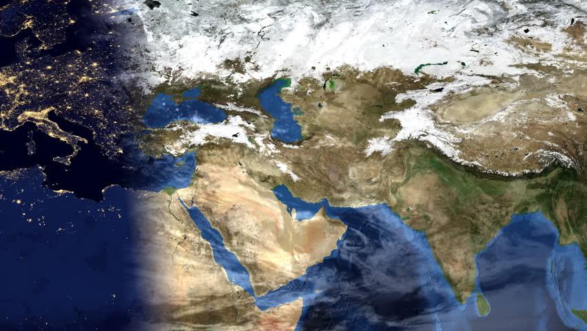 Middle East Morning Time-lapse Map Stockvideos & Filmmaterial (100 %  lizenzfrei) 14064992 | Shutterstock