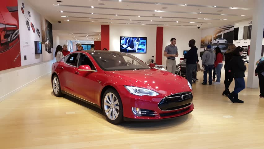Palo Alto Ca Usa January 24 Tesla Model S Car On Display Jan 2016 It Is An American Company That Designs Manufactures And Electric Cars