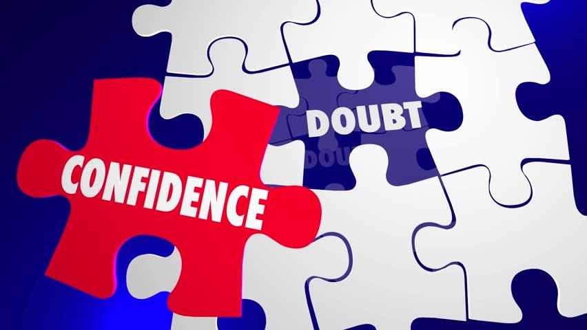 Confidence Vs Doubt Good Positive Attitude Wins Puzzle Solution | Shutterstock HD Video #14133212