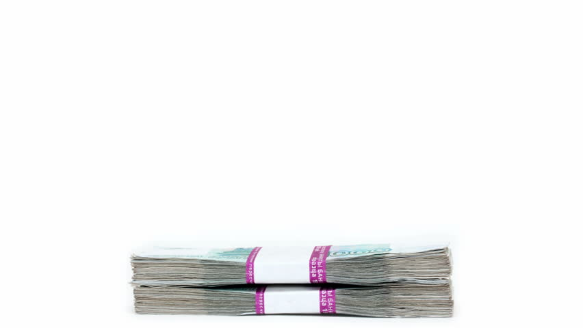 money concept - stack of banknotes packages increases and decreases