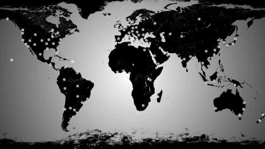 Loop animation of an illuminated world map a network of lines network connections animation hd stock footage clip gumiabroncs Image collections