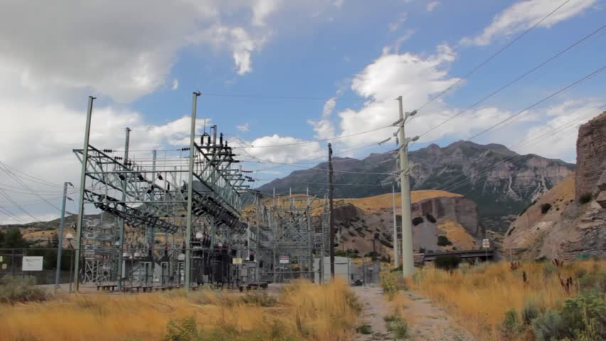 A high voltage power substation