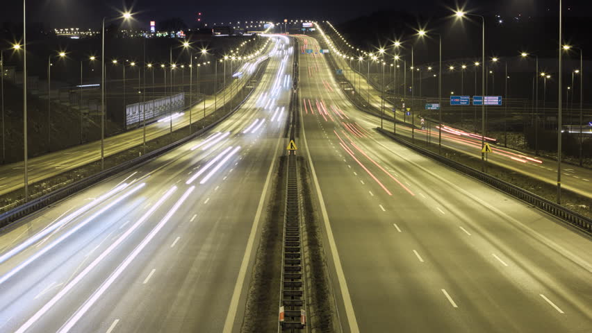 Time lapse night traffic on highway | Shutterstock HD Video #14180192