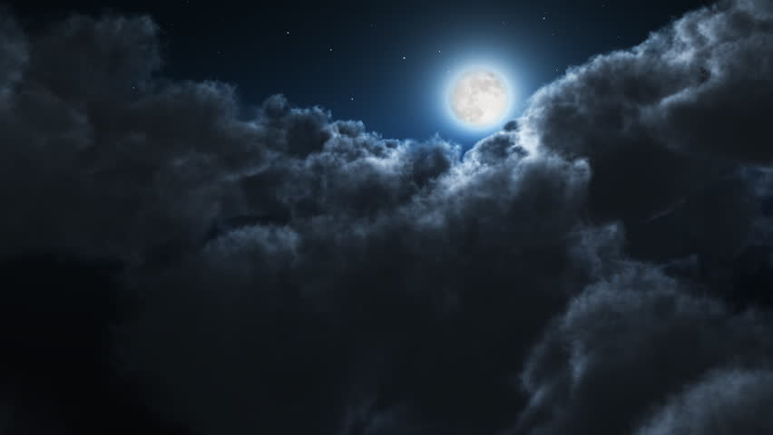 Night flight over clouds, loop-able cg animation | Shutterstock HD Video #1421662