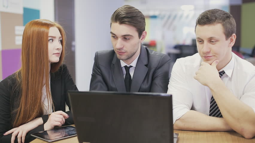 Serious Brainstorming Of Business People Stock Footage Video 100 Royalty Free 14291722 Shutterstock