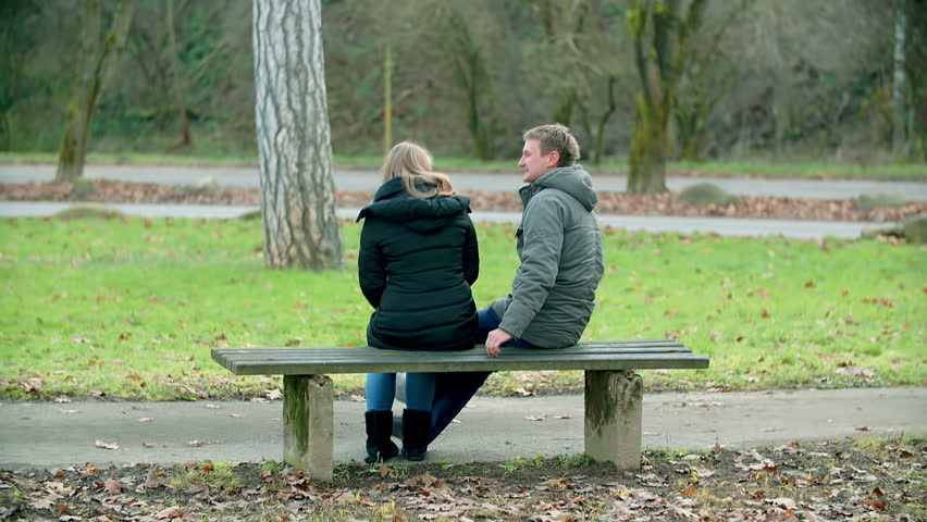 Awesome Video Bench Part - 2: In This Video, We Can See A Middle-aged Couple Sitting On A Bench