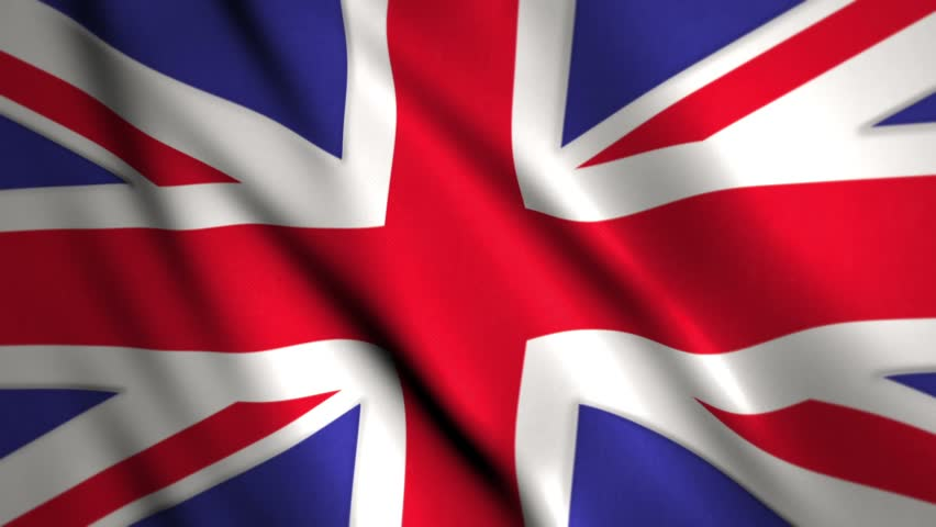 union jack flag of the united kingdom of great Britain waving and blowing in the breeze with room for text, logos, graphics and titles