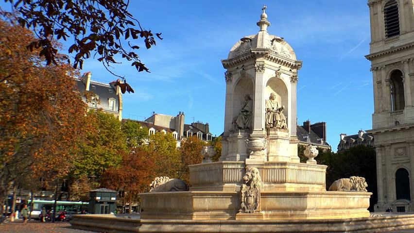Church of Saint-Sulpice in Paris. France. | Shutterstock HD Video #14357482