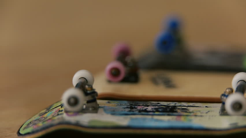 Several Fingerboards Lie On A Stock Footage Video 100 Royalty Free 14371552 Shutterstock
